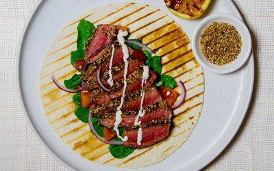 Beef Dukkah Wrap