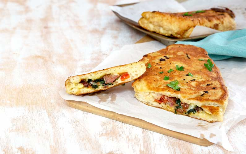 Delicious Breakfast Calzone