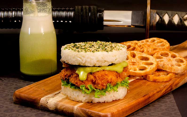 Japanese Chicken Samurai Burger