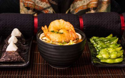 Japanese Tempura Prawn Noodles