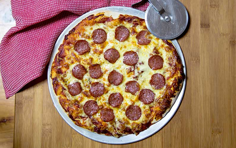 new york pizza - cooking at home is fun