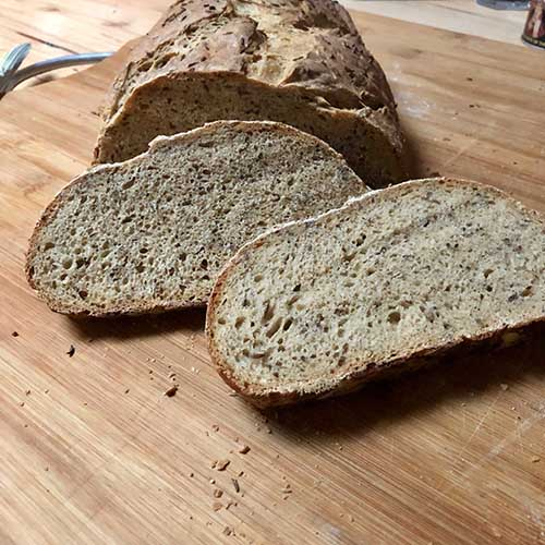 Rye makes for a tightly knitted loaf - Artisan Rye Bread