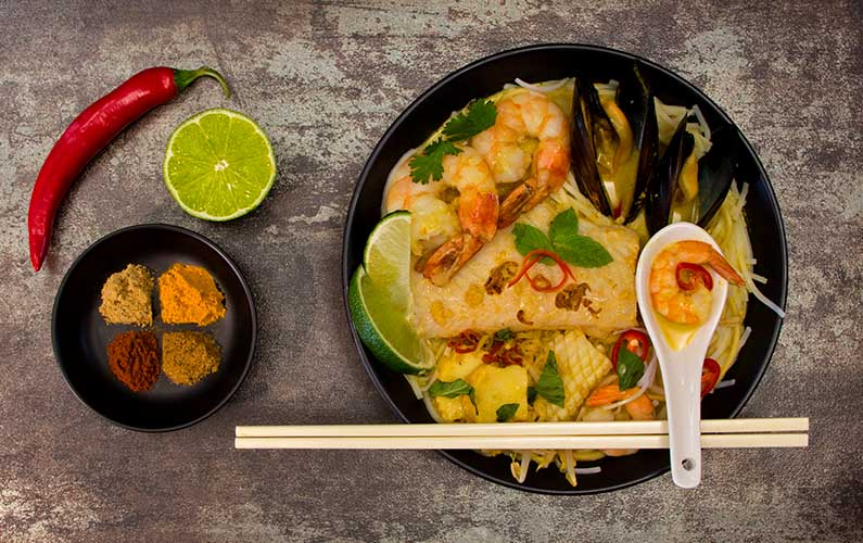 Seafood Curry Laksa - cooking at home is fun and it's easier than you think!