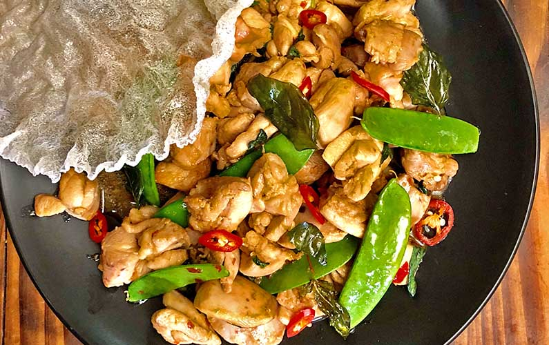 Thai Basil Chicken - cooking at home is fun