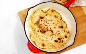 Super Simple Yogurt Flatbread - cooking at home is fun
